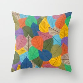 Leaves, Leaves, Leaves - Autumn is Coming - 57 Montgomery Ave Throw Pillow