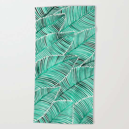 Tropical Turquoise Beach Towel