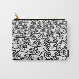Crazy Cat Lady Dreams (in b/w) Carry-All Pouch
