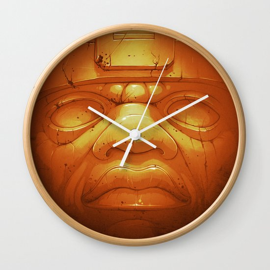 Olmeca II. (Gold) Wall Clock