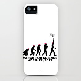 March For Science (Man) iPhone Case