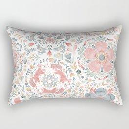 Midsommar Festival Scandi Flora and Fauna Rectangular Pillow