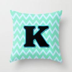Letter K Throw Pillow