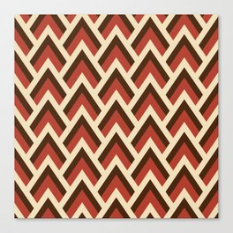 Mid Century Modern Triangles (Tomato Red) Canvas Print