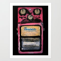Ibanez AD-9 Analog Delay Guitar Pedal Acrylic Painting  Art Print
