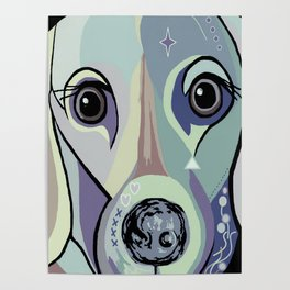 Dachshund in Denim Colors Poster
