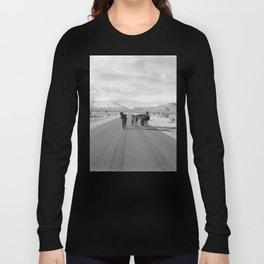 Spring Mountain Wild Horses Long Sleeve T-shirt
