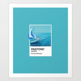 PANTONE SERIES – OCEAN BREEZE Art Print