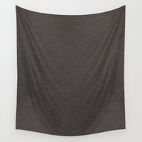 leather Wall Tapestries featuring Leather by Patterns and Textures