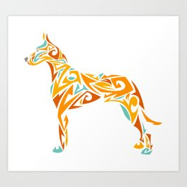 Great Dane Art Art Print