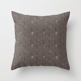 Dark Cowboy Repeat Pattern Throw Pillow