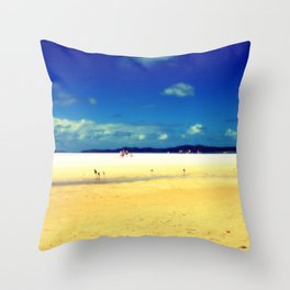 Whitehaven Beach Throw Pillow