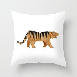 Origami Tiger Throw Pillow