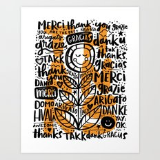 merci thanks grazie arigato Art Print