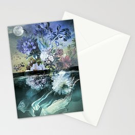 Mermaid Magic Moon Stationery Cards