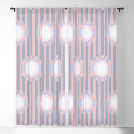Op Art Circles 2 Blackout Curtain