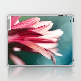 Nature's Dreaming - pink gerbera macro with mint / aqua bokeh Laptop & iPad Skin