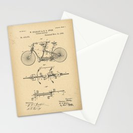 1889 Patent tandem Bicycle Stationery Cards