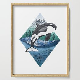 Hyshqa - Souther Resident Killer Whale Serving Tray