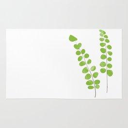 Button Fern Illustration Botanical Print Rug