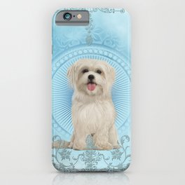 Cute little havanese puppy iPhone Case