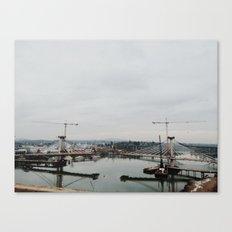 Bridge Building Canvas Print
