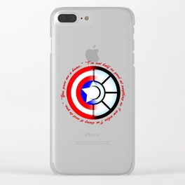 SteveTony - Encircling Quotes Clear iPhone Case