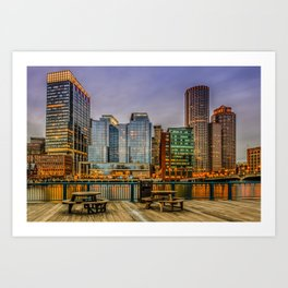 Boston Financial District Art Print