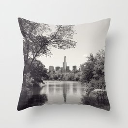 Central Park from Bow's Bridge Throw Pillow