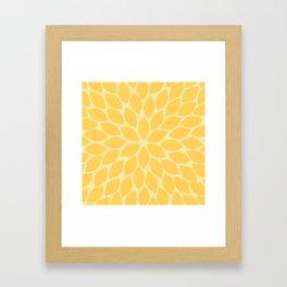 Sunshine Chrysanthemum Framed Art Print