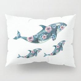 Rose Garden Whales Pillow Sham