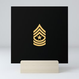Sergeant Major (Gold) Mini Art Print