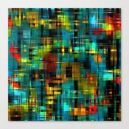 Art splash brush strokes paint abstract seamless pattern print background Canvas Print