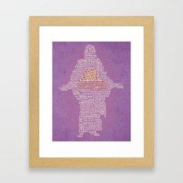 Purple Come Unto Christ 2014 LDS Mutual Theme Typography Framed Art Print