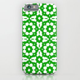 Kelly-Green Classic Tile Pattern iPhone Case