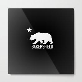 Bakersfield and California Bear Metal Print