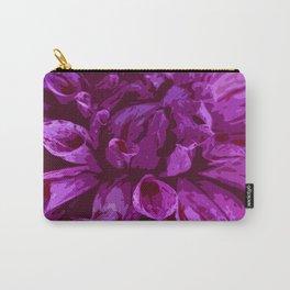Violet Dahlia Carry-All Pouch