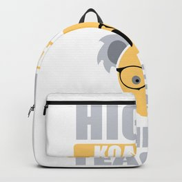 Highly Koalafied Science Teacher First Day graphic Backpack