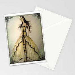 Morticia Wears Haute Couture Illustration By James Thomas Ryan Stationery Cards