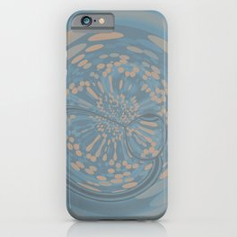 Soft Blue and Beige Circle Abstract iPhone Case