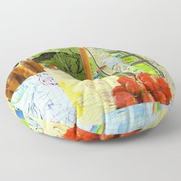Little Red Fox Floor Pillow