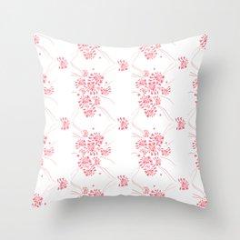 pink primavera Throw Pillow