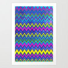 Neon Wave Art Print