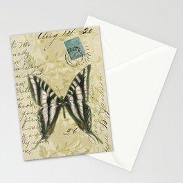 Zebra Butterfly Stationery Cards