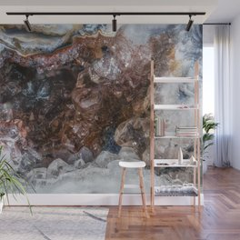 Tiny geode crystal cave Wall Mural