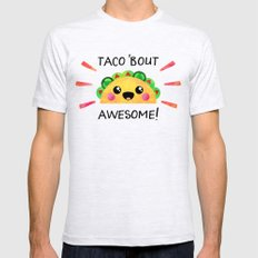 Taco 'bout awesome! Ash Grey X-LARGE Mens Fitted Tee