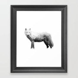 The wolf in the forest Framed Art Print