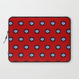 Evil Eye on Red Laptop Sleeve
