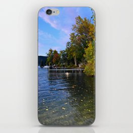 Autumn Arrives at the Lake iPhone Skin
