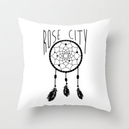 Rose City Dream Throw Pillow